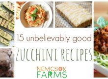 15 Unbelievable Zucchini Recipes sure to please everyone at your table!