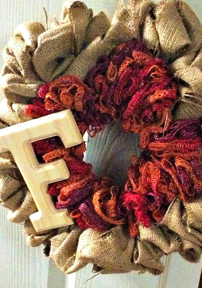 DIY Burlap Wreath Perfect Fall Craft for your Front Door and some of the Best DIY Craft Projects