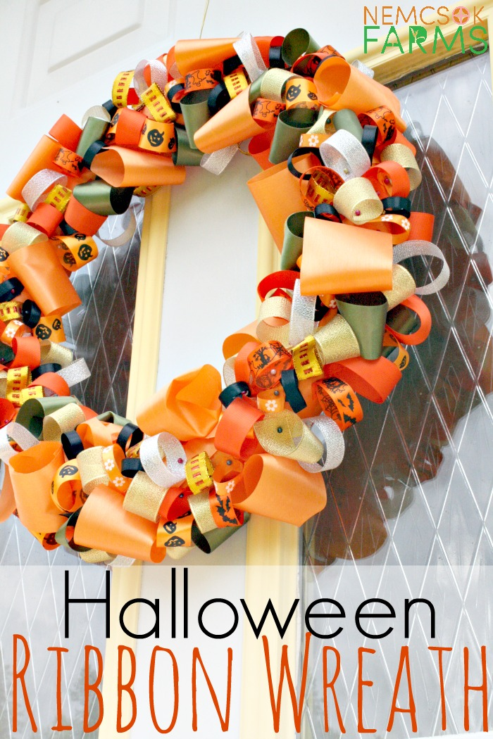 Diy Halloween Ribbon Wreath Tutorial Nemcsok Farms
