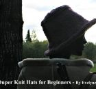 The Plum Fedora - Super Duper Knit Hats for Beginners - book of fabulous knitting patterns for hat suited for beginners and professionals
