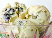 Homemade Ice Cream made with Easter Candy -