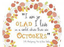 I am so glad I live in a world where there are octobers free printable wall art