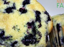 Homemade Lemon Blueberry Muffins Recipe perfect for breakfast on the go, and even better if you can use fresh berries. Don't fret however, frozen berries will do!
