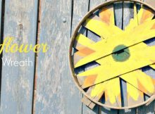 Rustic Sunflower Bushel Lid Wreath DIY - Perfect Fall Garden Arts & Crafts