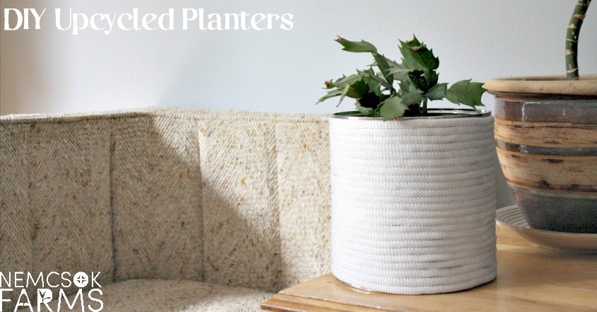 DIY Farmhouse Planter - an elegant, simple, rustic yet luxe up-cycle that is easy on time, and easy on the budget!