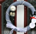 DIY Snowman Wreath Winter Front Door Decor