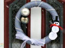 DIY Snowman Wreath Winter Front Door Decor