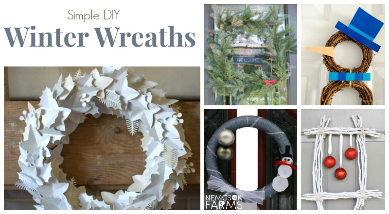 15 Simple DIY Winter Wreaths post thumbnail image