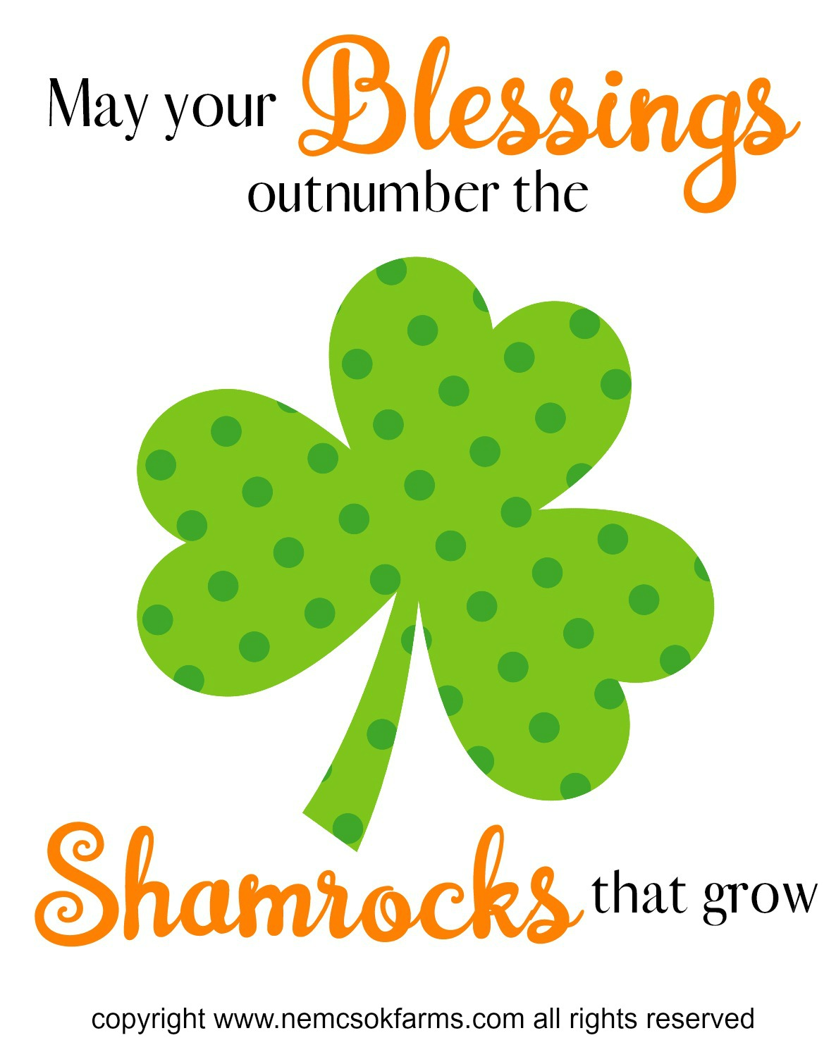 Blessings and Shamrocks copyright