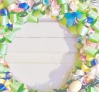 Easter Ribbon Wreath Tutorial. Easy DIY decor, perfectly light and airy for all things Spring!