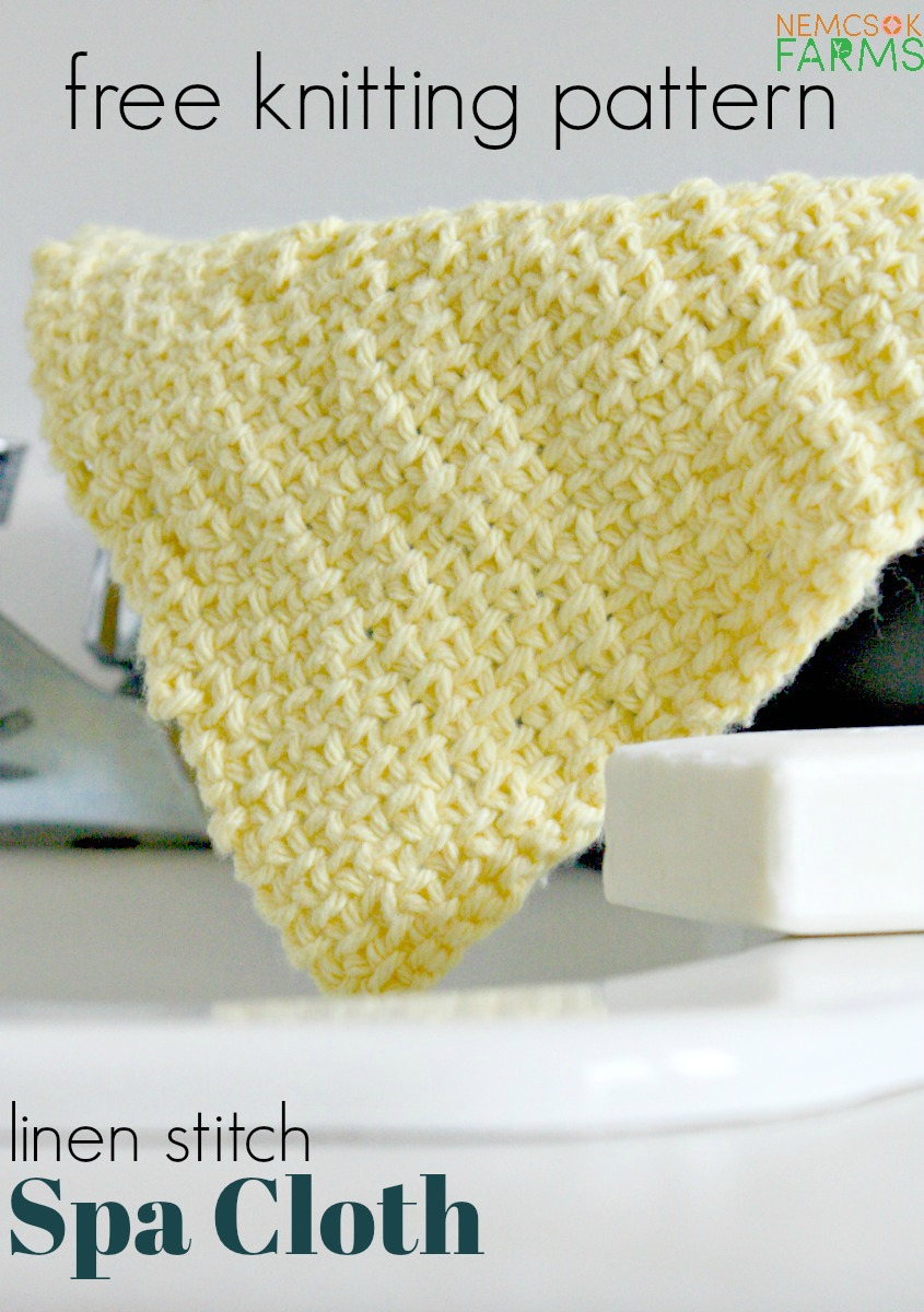 Linen Stitch Spa Cloth free knitting pattern in 100% cotton perfect for a quick spring project and even better for gift giving - I'm thinking of you Moms!