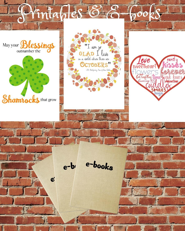Printables & E-books