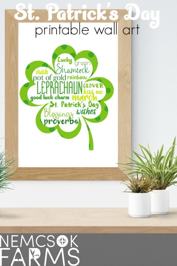 St. Patrick's Day Subway Style free printable wall art. Easy DIY farmhouse style decor, perfect for framing and for gifting