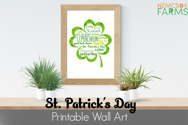 St. Patrick's Day Subway Style Printable Wall Art post thumbnail image