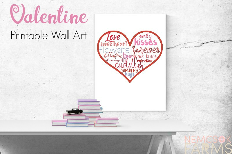 Valentine Subway Style free printable wall art. Easy DIY farmhouse style decor, perfect for framing and for gifting