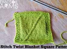 Join in on the knitting fun with the 3 Stitch Twist Blanket Square pattern and be part of the Harmony Blanket Knit-A-Long