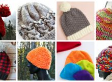 Knitting, Sewing and Crochet Patterns and Tutorials for hats to DIY this winter