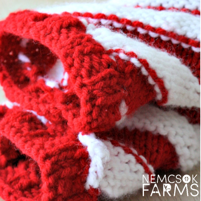 Free Knitting Pattern and Tutorial for some deliciously sweet candy cane swirl legwarmers DIY holiday gifts and festive wear