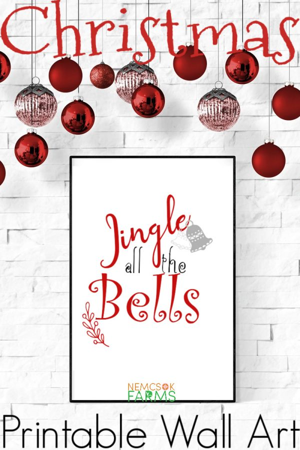 Jingle All The Bells Printable Wall Art for a fun and quirky Christmas