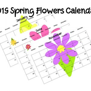 Printable 2019 Spring Flower Calendar from January to December complete - just the right thing to get ready for spring!