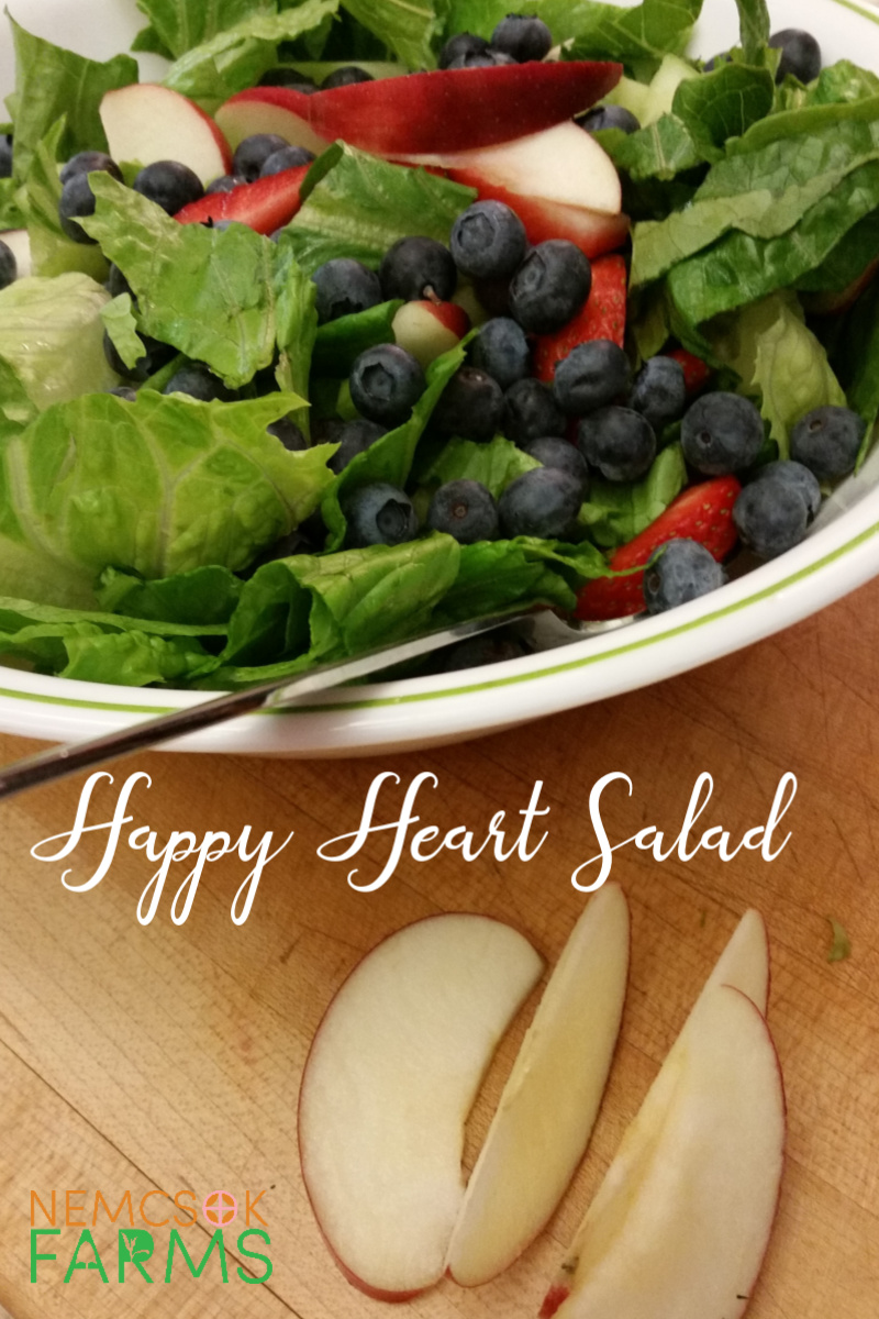 Happy Heart Salad - Crisp greens and juicy berries complete this salad