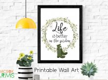 Life is Better in the Garden Printable Wall Art, because Life is Better in the Garden, and Printable Wall Art that's free to download is an excellent way to decorate.