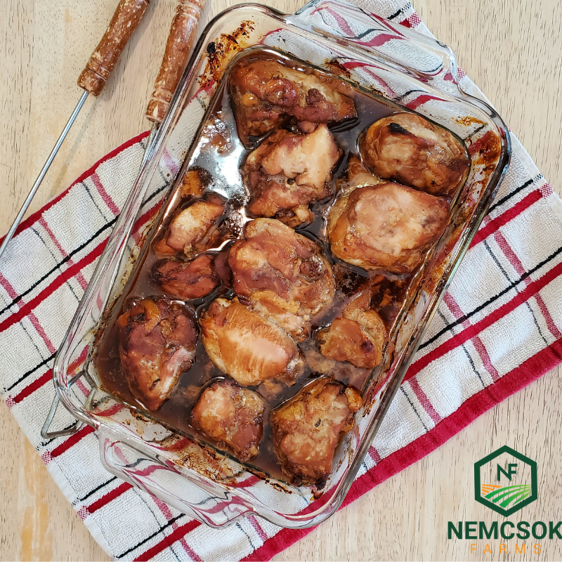 Oven Baked Chicken in Honey Birch Sauce Recipe for Gourmet Birch Syrup
